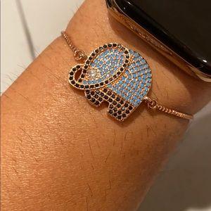 Jewelry - Rose Gold Adjustable Elephant Bracelet